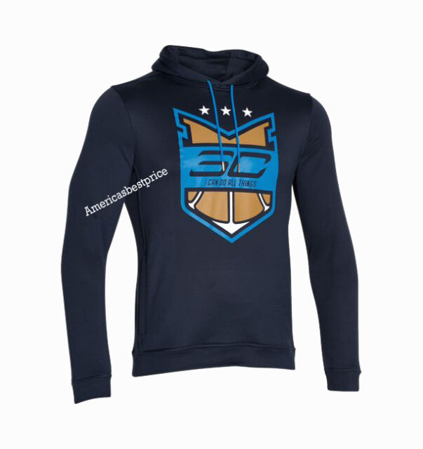 sale retailer 82ac9 6d09a Under Armour Men's Stephen Curry 30 Light Hoodie Sweatshirt Fitted Blue  Blue 2xl
