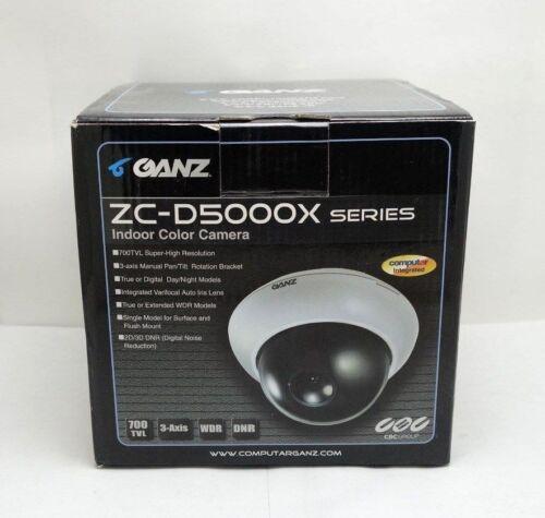 New Ganz ZC-D5212NXA Hi-Res Day Night Color 700TVL GX5 Security CCTV Dome Camera