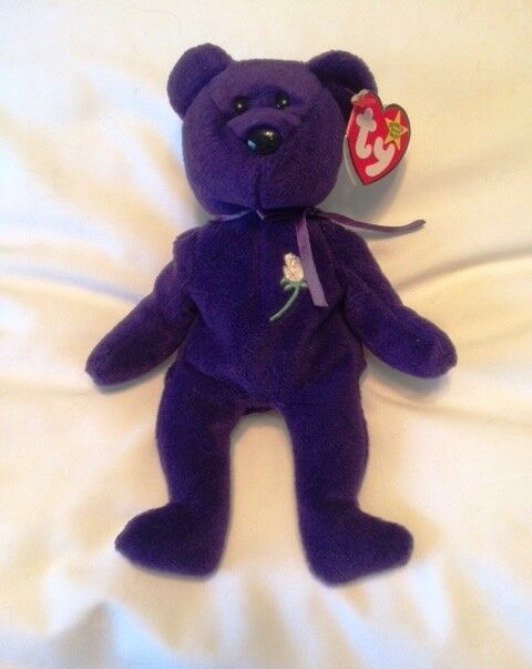 PRINCESS DIANA TY BEANIE BABY  RARESTTRUE 1ST EDITION INDONESIANPVC PELLETS