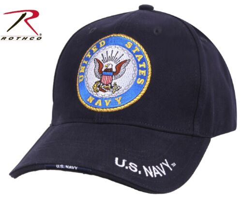 United States Navy Deluxe Low Profile Adjustable Baseball Cap Rothco US Navy Hat