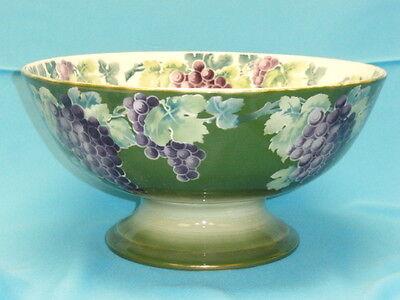 """Audacious Huge Vintage K & G Luneville France Grape Salad Decorative Arts Punch Bowl 15"""" Antiques"""