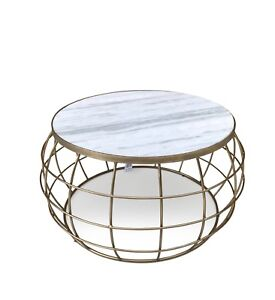 Image Is Loading Round Marble Coffee Table Living Room Side Modern