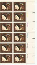 1973 U. S. USPS Scott 1487 Willa Cather Novelist block of 12, 8 cent stamps