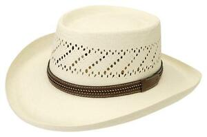 NEW Black Creek BC9016 GAMBLER Toyo Straw Western Cowboy Hat NWT MADE in the USA