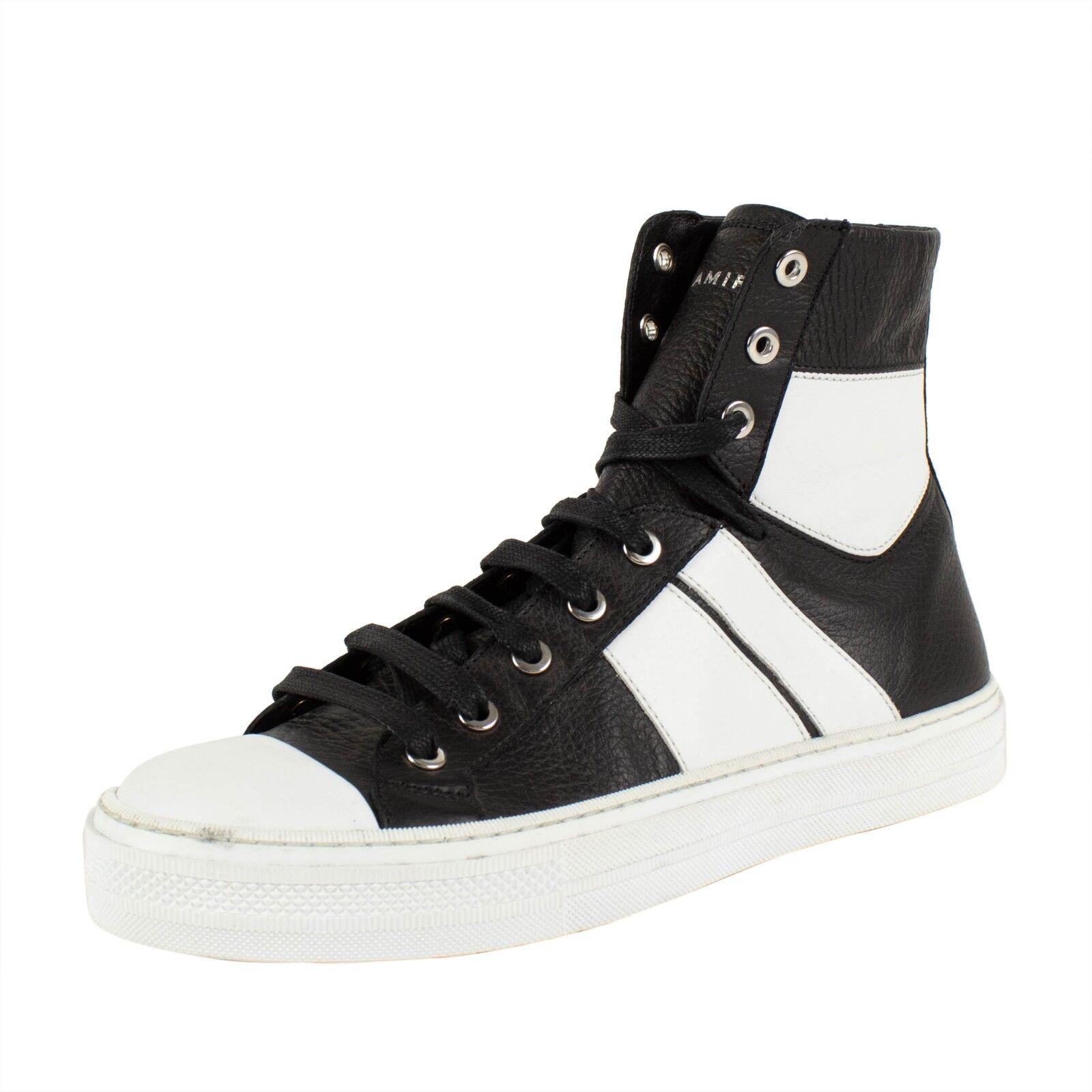 NIB AMIRI 'Sunset' nero bianca Leather scarpe da ginnastica scarpe Dimensione 7 US 40 EU  690