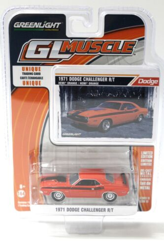 1:64 GreenLight Dodge Challenger R//T 1971 Orange New en Premium-modelcars