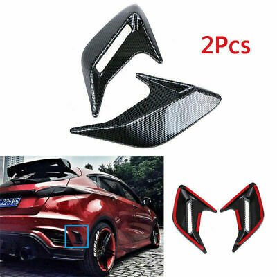 kaaka Universal Car Hood Side Air Intake Flow Vent Cover Decorative Sticker for Auto Vehicle Exterior Additional Decoration Decal Accessory Black