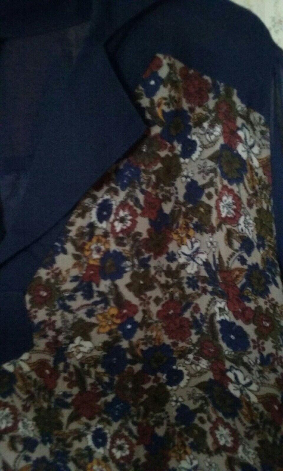 Joe browns browns browns navy and brown floral midi dress 12 cf7aba