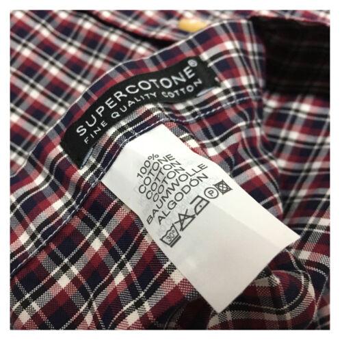 Slim cotone 16 Camicia Blu Quadri 100 bordeaux Xacus Vestibilità Uomo Regular 41 HzTPUn