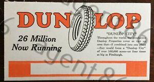 Dunlop Balloon Tires ink blotter