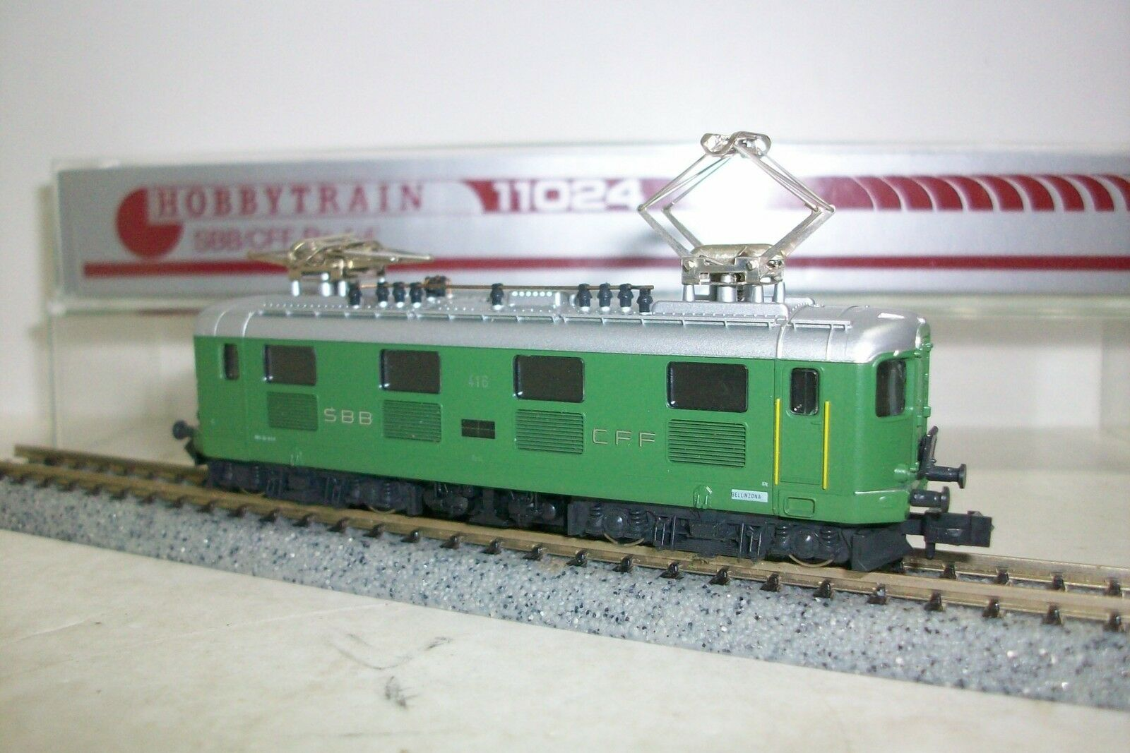 N  HOBBYTRAIN  11024   Locomotora E-LOK SBB-CFF Re 4 4  verde  416
