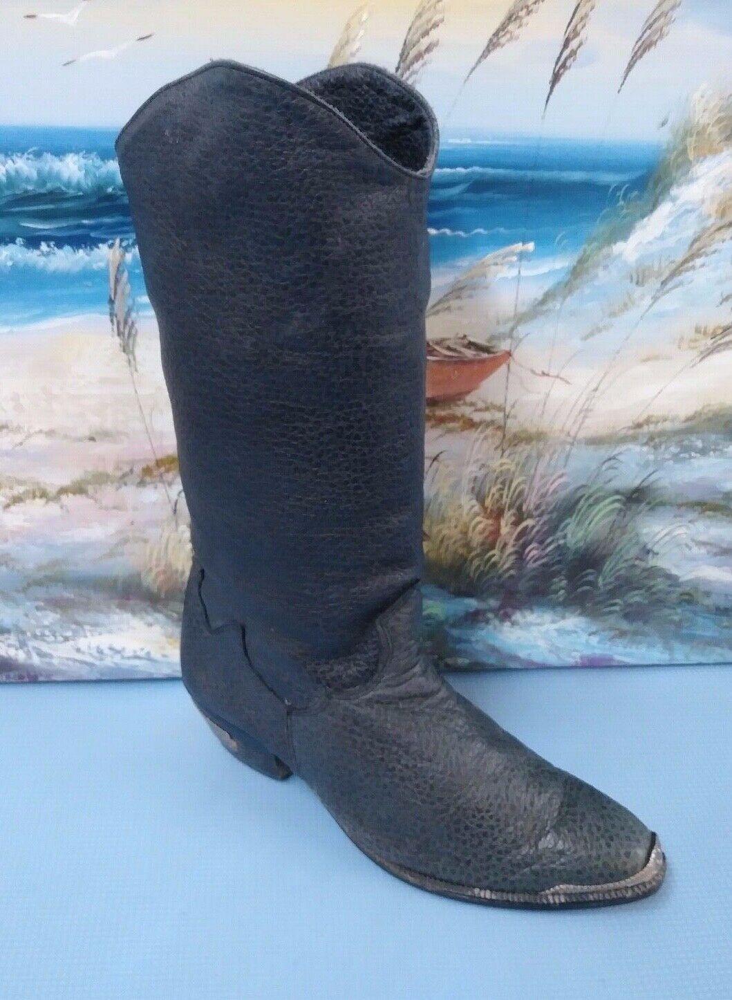 Dingo ACME Womens  Western Cowboy Boots  Leather 7.5 M Style 8151 Black
