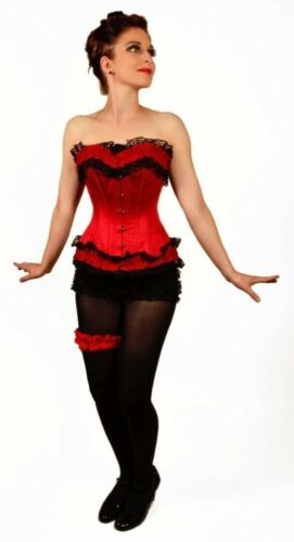 OrdoNigra Korsett Corset Vollbrustkorsett Retro Hot Love Gothic Satin #3160 003