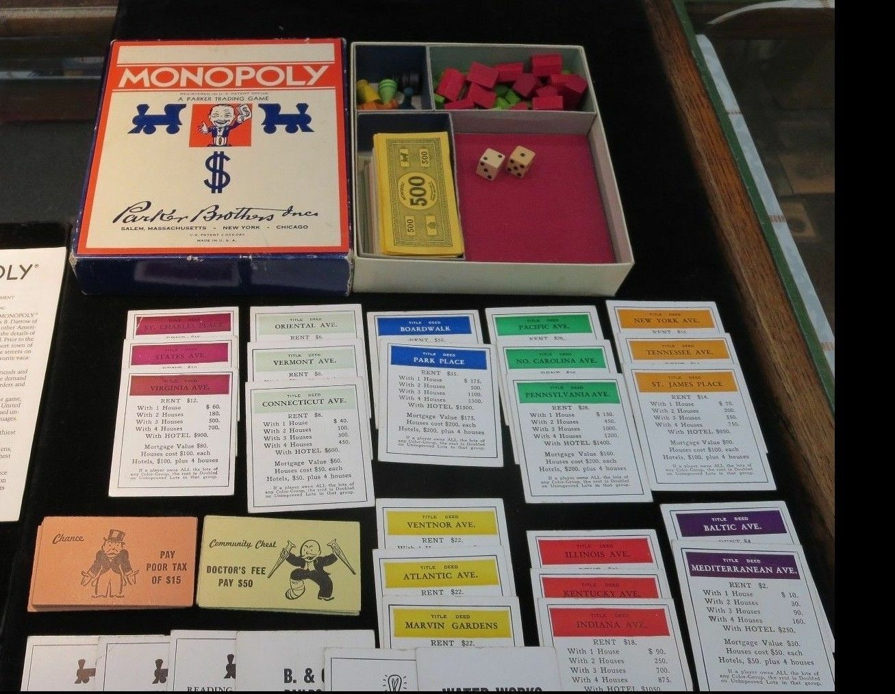 Ancien Monopoly PIECES Parker Brougehers