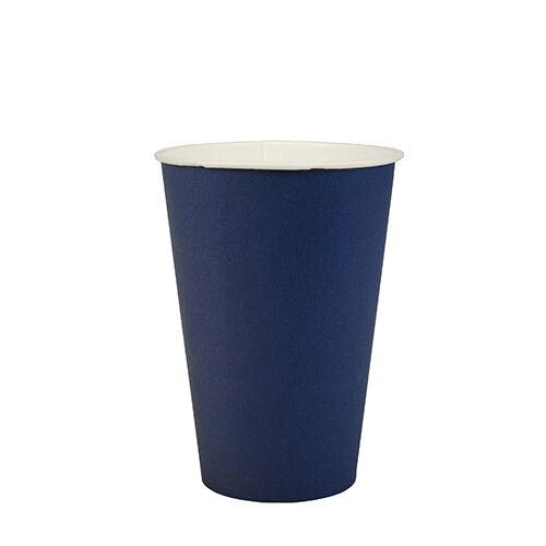 9,7 cm Pappbecher Einwegbecher 300 dunkelblaue Trinkbecher Pappe 0,2 l Ø 7 cm