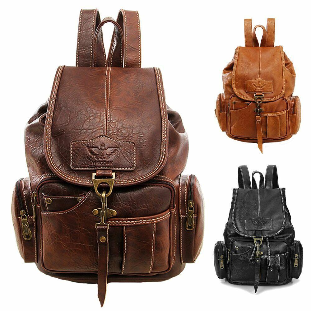 Ladies Vintage Leather Backpack Bag Shoulder class Travel Bag Satchel ... - s l1600