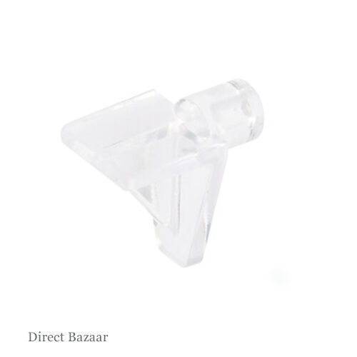 for Ø 6 mm Hole for Wooden Shelves 50 x Häfele Clear Shelf Support,Plug in
