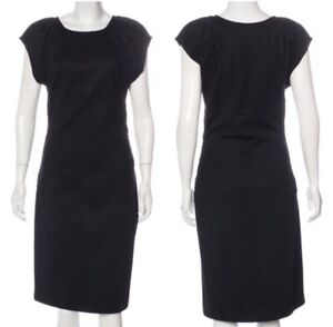 Diane-Von-Furstenberg-DVF-THANE-Black-Wool-Blend-Midi-Dress-SZ-8