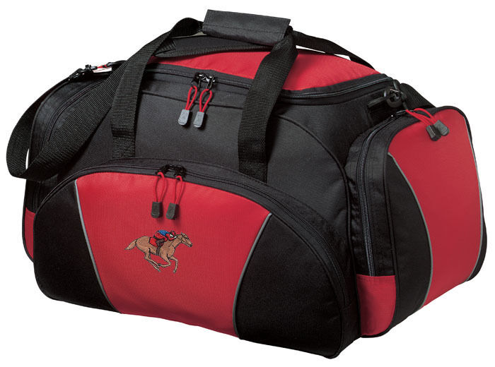 Horse Racing Embroidered Duffel Bag