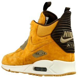 quality design 69b1d a00bb Image is loading Nike-Air-Max-90-Sneakerboot-Winter-Waterproof-Wheat-