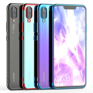 Details about For Huawei Nova 3i 3e P20 Lite Pro Case Clear Slim Plating Soft TPU Back Cover