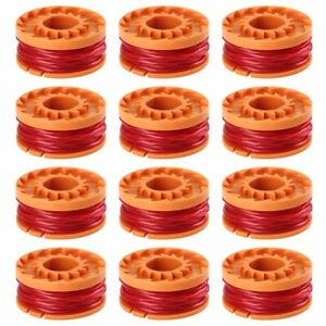 12-Pack-6-PACK-WORX-WA0010-Replacement-Spool-Line-For-Grass-Trimmer-Edger-10ft