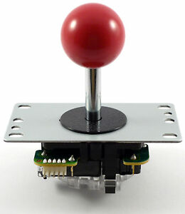 Genuine-Sanwa-JLF-TP-8YT-Ball-Top-Arcade-Joystick-4-8-Way-Red-MAME-JAMMA