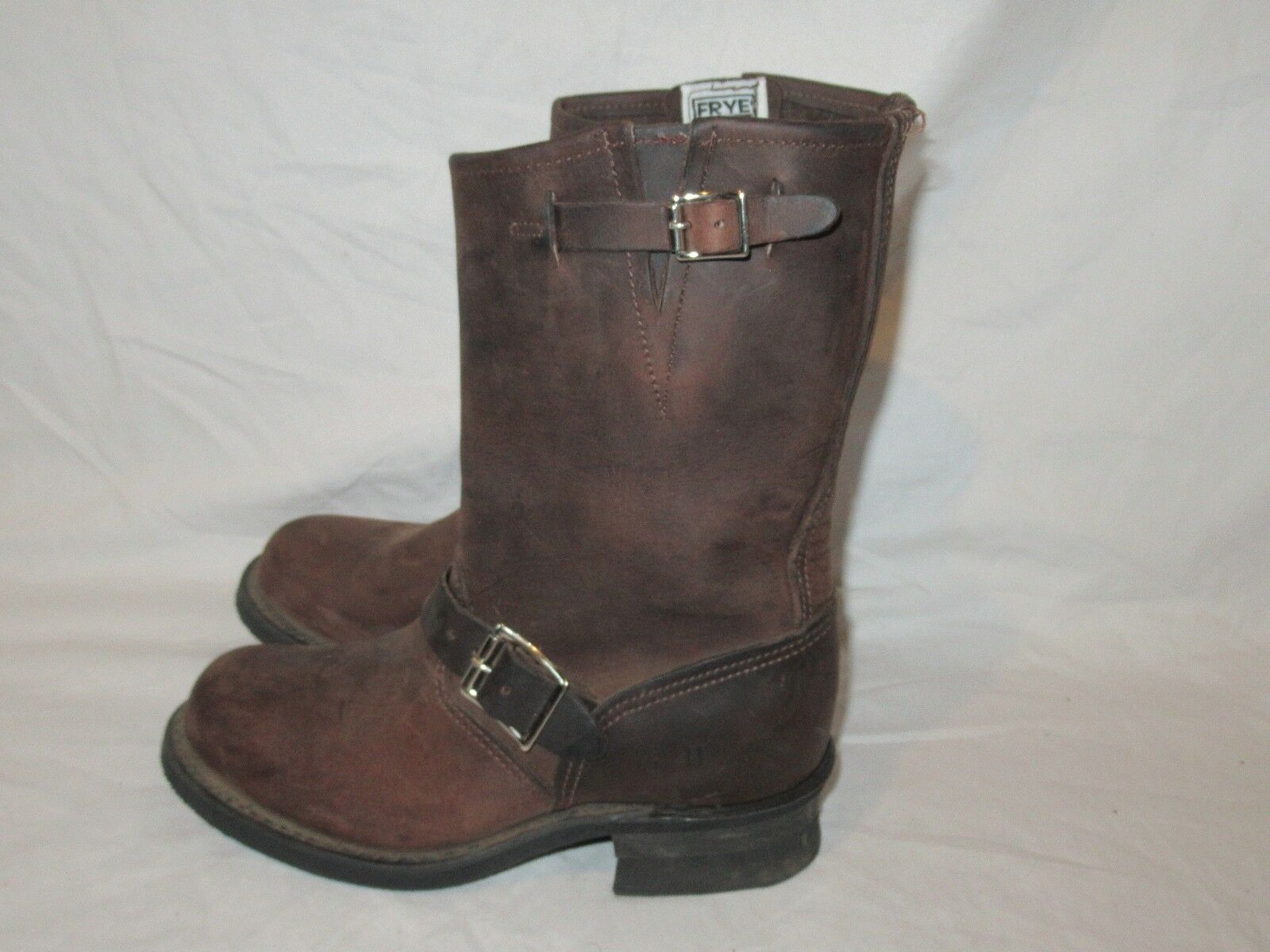 Frye Women's Engineer 12r, Brown Leather motorcycle Boots style style style  77400, sz 6.5 cd605a