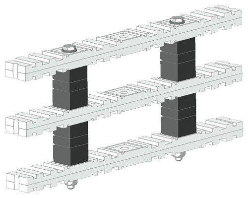 Siemens 8PQ4000-0BA37 Sivacon S4 Versteifung Sammelschiene