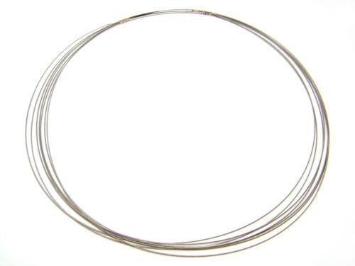 42 cm; C122 Collier stahlfarben Halsreif Stahldrahtcollier 7-reihig