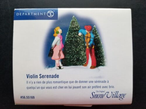 Department 56 Snow Village Violin Serenade #55169 New Retired
