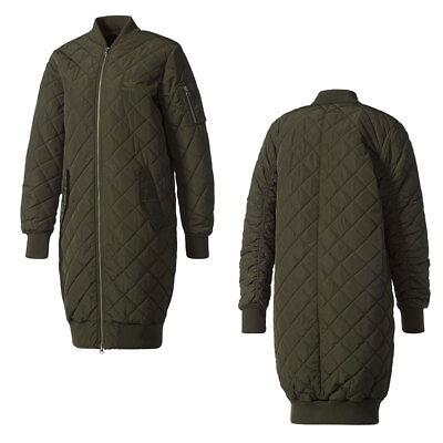 Adidas ORIGINALS LONG BOMBER Jacke Damen Leicht Winterjacke Jacke Neu | eBay