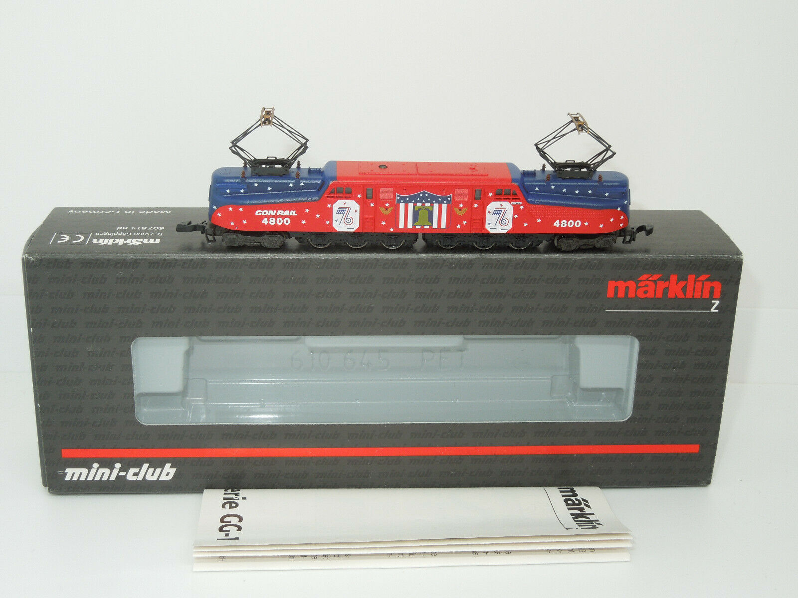 Märklin mini-club 88491 US E-Lok Reihe GG-1 der Consolidated Rail Co. (Conrail)