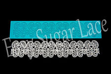 Silicone Sweet HEARTS CAKE LACE Mat / Mold for Edible Sugar Lace FREE Shipping