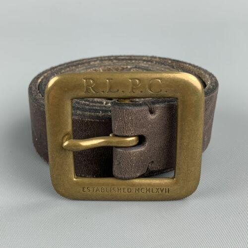 RALPH LAUREN Antique Size 32 Brown Leather Belt