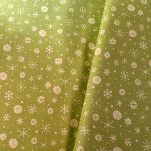 Dashwood Studios Green Christmas Wish Cotton Fabric from Windham 99p sample
