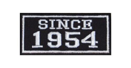 Since 1954 Biker Patch ricamate anno MC moto rocker tonaca Club numero dal