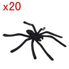 20 x halloween party plastic black spider joking toys decoration realistic prop