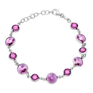 Crystaluxe-Bracelet-with-Purple-Swarovski-Crystals-in-Sterling-Silver