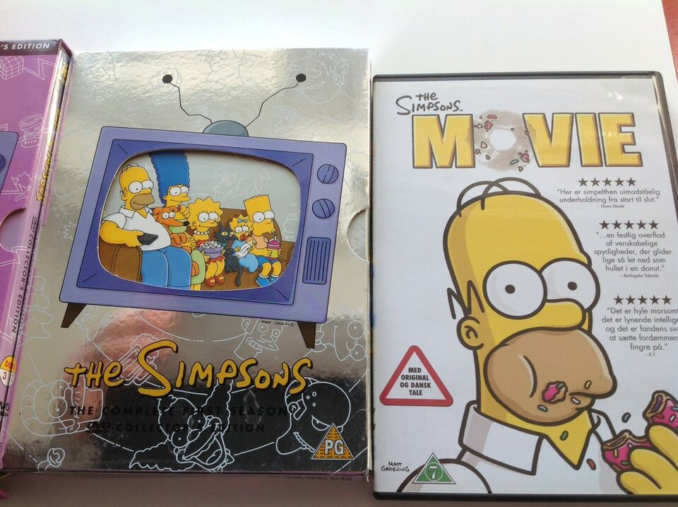 The Simpsons, DVD, tegnefilm