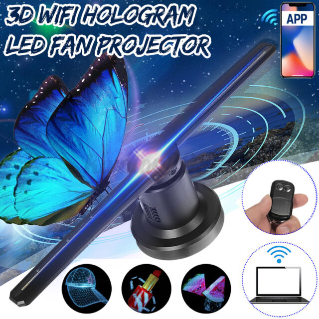 3D WiFi 224LED Holographic Projector Display Fan Hologram Advertising Projection
