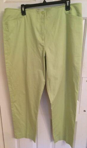 NWOT Size 18 LIZ CLAIBORNE PANTS Solid Blue or Green Cotton//Spdx Straight Leg