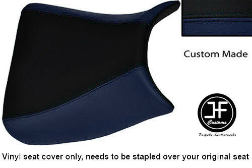 BLACK /& NAVY BLUE VINYL CUSTOM FOR SUZUKI GSF 1250 BANDIT 07-12 FRONT SEAT COVER
