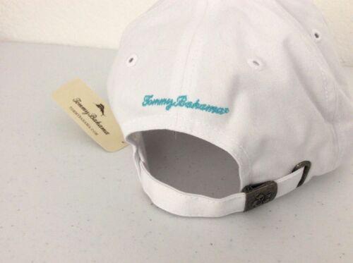 Tommy Bahama White Floral Hibiscus Flower Paradise Beach Logo Baseball Cap Hat