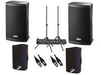 "2 x FBT Xlite 15A Active 2000W 15"" Powered Speaker DJ Disco PA Sound System"