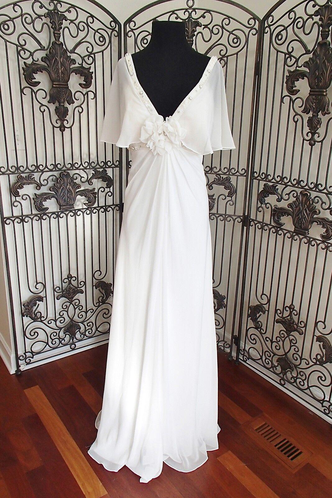G31 Morrell Maxie 13373 Sz-18 Elfenbeinweiß Hochzeit Kleid | Die Farbe ist sehr auffällig  | Kostengünstiger  | Feinbearbeitung