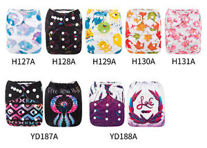 ALVA-Baby-Cloth-Diapers-One-Size-Reusable-Pocket-Nappies-1-Microfiber-Insert
