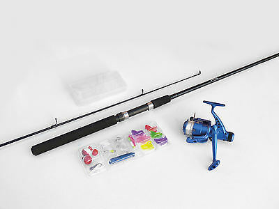 Complete Sea Fishing Angling Set Strong Rod Heavy Duty Reel Tackle & Box RY353