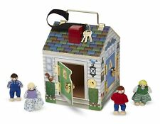 Melissa & Doug 12505 Wooden Doorbell House Doll Early Learning Skill Toy 3