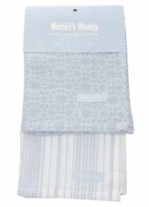 2 Pack Tea Towel Pack   Cook The Australian Women's Weekly   100% Cotton   Blue